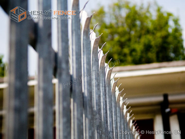 Metal Palisade Fencing D section pale